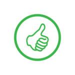Bewertungs-System - Daumen in Grün